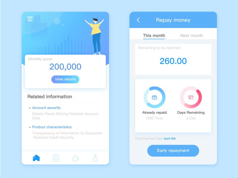 Finance blue finance app