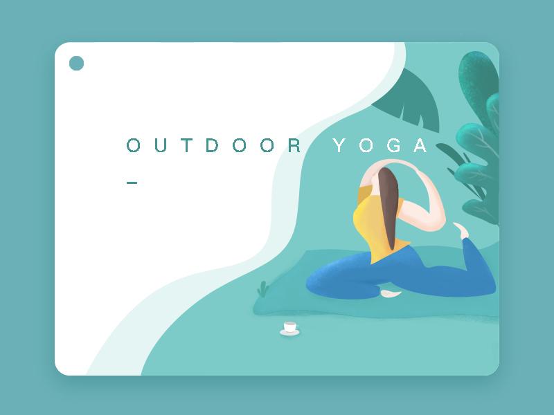 Yoga illustration photoshop
