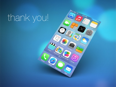 FREE PSD - iOS7 Screen Template ios7 iphone template design icons icon freebie free psd mobile ui