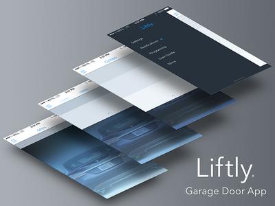 Garage Door App app ios7 swipe garage door menu settings gesture
