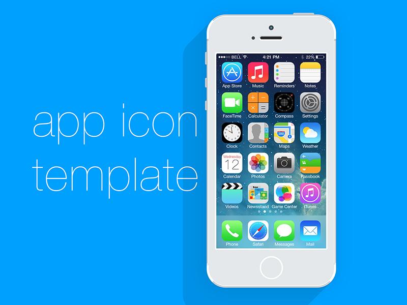 Freebie App Icon Template - V2 psd app icon freebie iphone