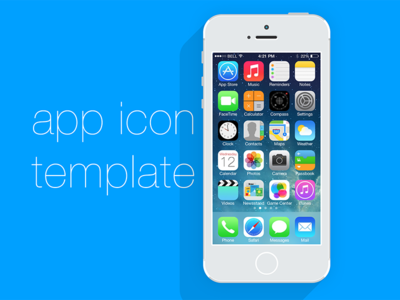 Freebie App Icon Template - V2 psd app icon freebie iphone
