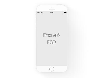 White iPhone 6 - FREEBIE freebie iphone 6 iphone white psd