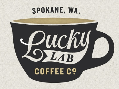 Lucky Lab Coffee Company coffee logo lab lucky hand drawn texture braizen type