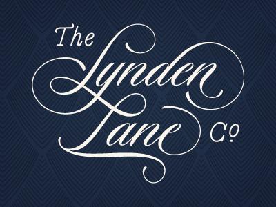 The Lynden Lane Company braizen navy script custom type