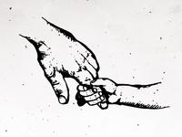 Drew Newman Family Illustration