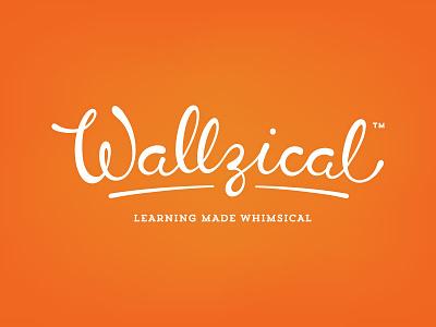 Wallzical Logo wall decals w orange braizen script whimsical logo z