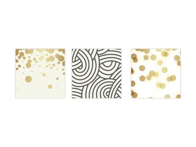 Senior Republic Patterns patterns splatters knots glow circles custom brazien gold grey bronze metallic