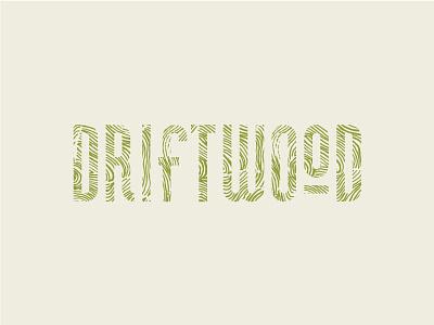 Driftwood Logo woodgrain custom logo braizen hand drawn custom logo type jamaica dear crissy