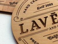 Lavene & Co. laser etched business cards