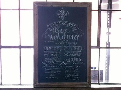 Lettering - Wedding Program