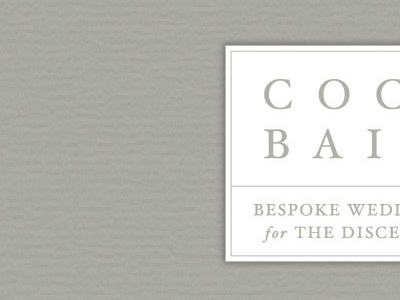 Coco & Bailey Logo coco  bailey jasminellesse washington dc all caps jasmine ellesse bridal taupe white clean feminine wedding classic