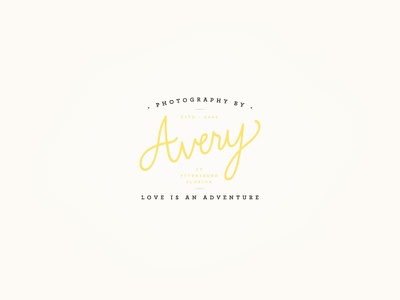Avery Logo V3 script archer avery jasminellesse branding logo photographer wedding jasmine ellesse hand drawn
