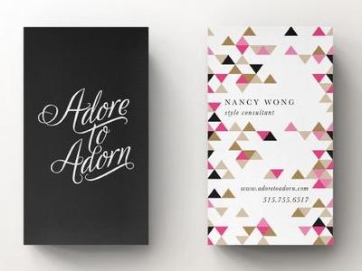 Adore to Adorn Business Card