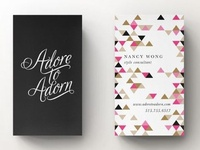 Adore to Adorn Business Card