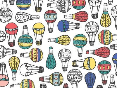 Hot Air Balloon Pattern pattern jasminellesse hot air balloon hand drawn jasmine ellesse avery davis photography by avery