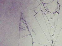 male fashion sketch