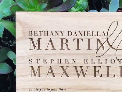 laser engraved wedding invitation lavēne and company jasmine ellesse wedding invitation laser engraved square weddings jasminellesse sophistiated didot classic invitation wood