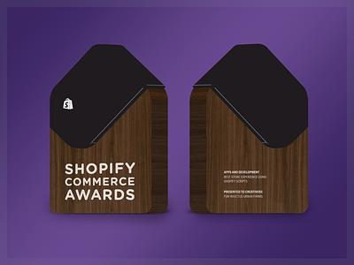 Award Concept #1 walnut acrylic wood trophy award