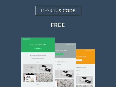 Design&Code freebies web design psd flat