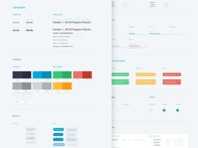 Dashboard UI Style Guide styleguide dashboard user-interface user-experience flat web design web app ux ui design