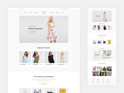 eCommerce Homepage Layout — Version 1 clothes fashion freelancer wip work freelance store user-experience ux ui layout ecommerce