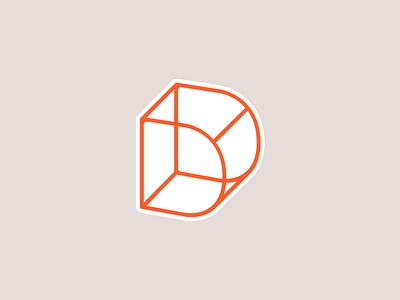 Personal Brand Update, Logo Sticker Style line orange monogram freelance freelancer designer personal brand identity logo
