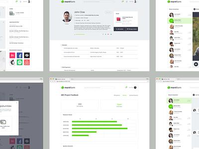 Mentform Multiple Desktop Screens profile user-interfaces user-experience ux ui digital design saas platform mentoring mvp