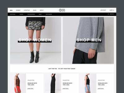 This Is Odd Desktop E-Commerce clean minimal logo logo design identity design ecommerce branding ecom e-commerce clothing fashion