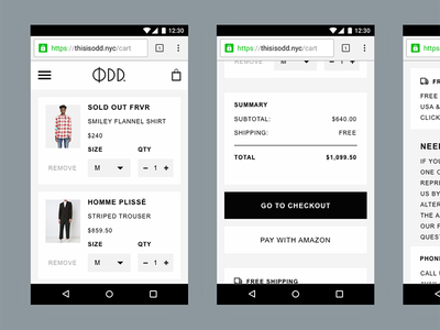 This Is Odd on Mobile fashion clothing e-commerce ecom branding ecommerce identity design logo design logo minimal clean