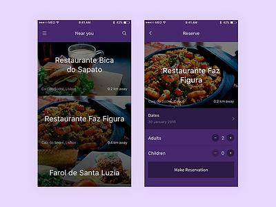 Maitre App overlay ui interface user user-flow ios mobile app food