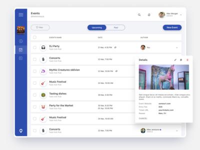 Event Dashboard UI/UX Design
