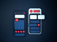 Mobile Dashboard. 3D Illustration