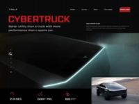 Tesla Cybertruck   Landing page (Concept)
