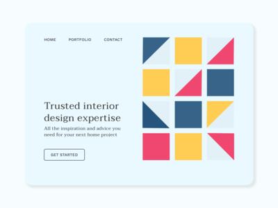 Interior Design Service Landing Page