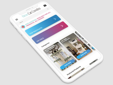 eCommerce site home page update mock