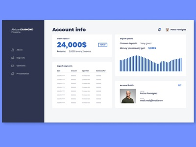 Simple ux (account info)