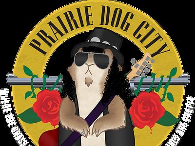 Prairie Dog City 2 slash guns n roses prairie dog illustration