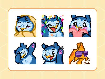 Emotes owlbear emotes stream twitch illustration