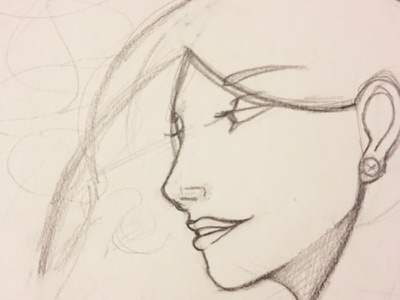 Unnamed human face sketch