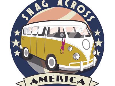 Shag Across America fictional tour bus logo
