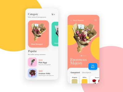 Florist Mobile App Concept