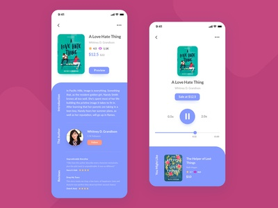 Audiobook App: Book Details & Preview