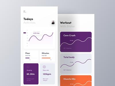 Fitness App UI mobile app design visualx orizon gym app fitness app health app ios android app ios app ui app design app ui design ui app app ui app design app