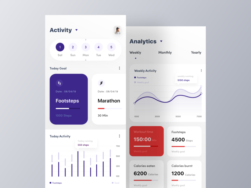 Fitness Activity App fitness tracker app health app android android app ios ios app ui app design orizon card fitness app android app design ios app design app visualx app ui app ui design app design