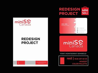 Redesign Project MiniSO typography minimal branding logodesign branding design art concept
