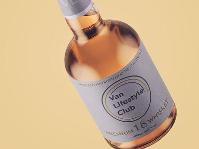 Label design applied in mockup bottle typography package design label branding design
