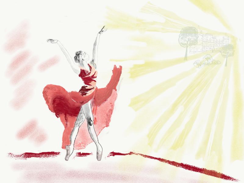 Ballerina illustration flatdesign vector illustration