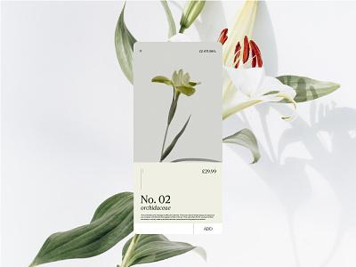 A Florist's Favourite App graphicdesign app minimal flat web branding design