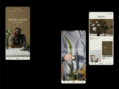 A Florist's Favourite App graphic design art ui web minimal graphicdesign flat design branding app